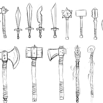 Art Style #7: Weapon concepts